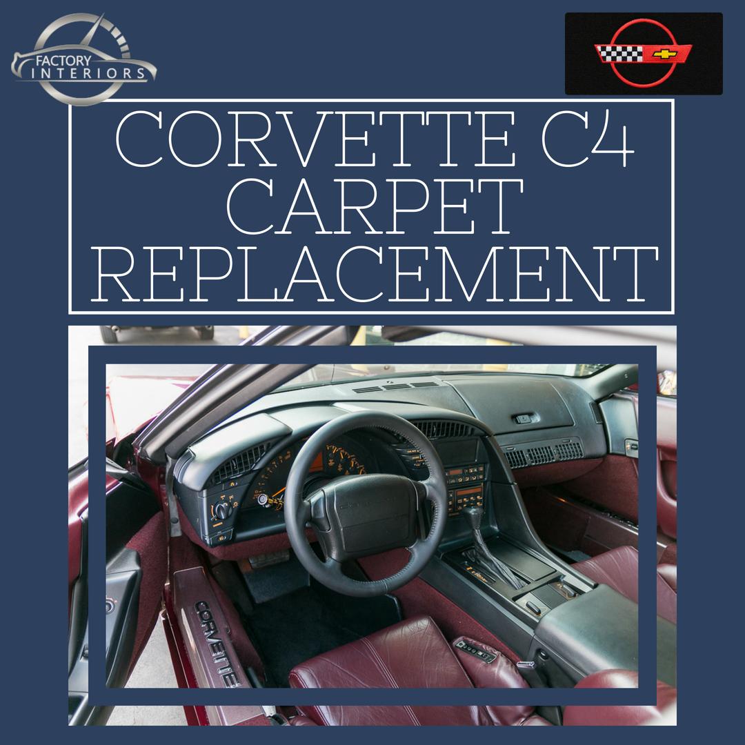 Corvette C4 Carpet Custom 84 96 Corvette Carpet Replacement Factory Interiors
