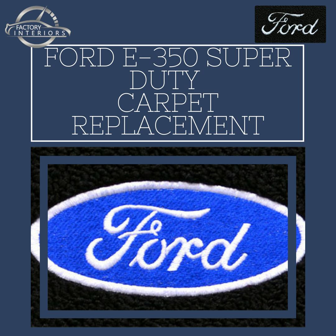 Ford E 350 Super Duty Vinyl And Rubber Floor Liner 99 14 E 350 Van Factory Interiors