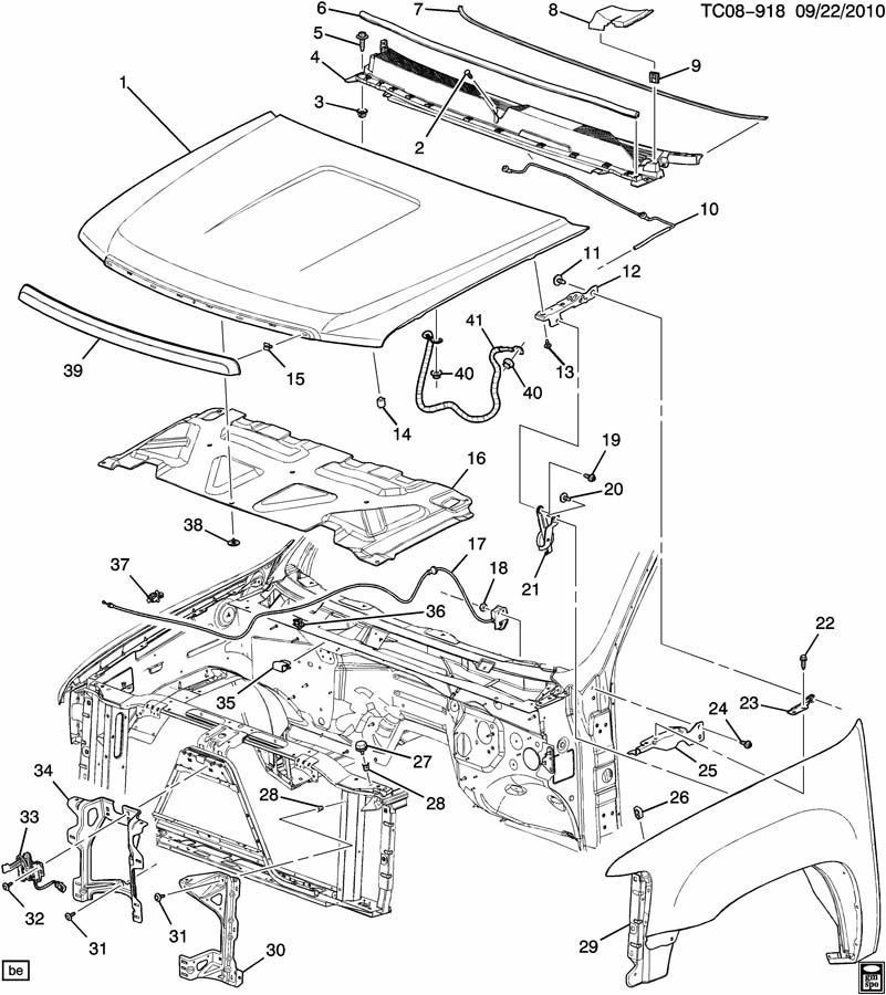 Chevy Hood Latch Diagram