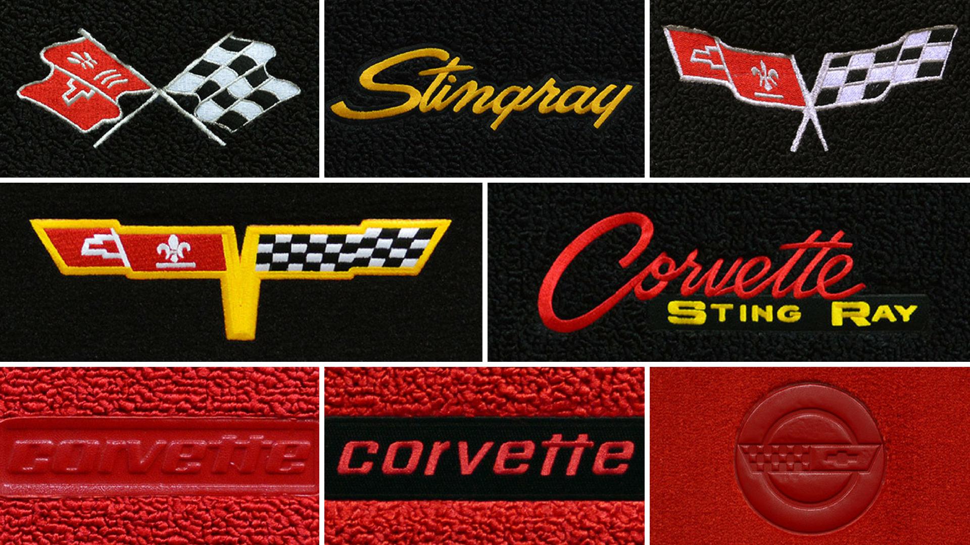 Corvette C3 Floor Mats - Custom 68-82 C3 Corvette Logo Mats